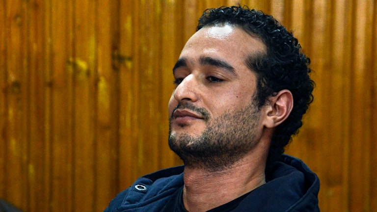 Aktivisten Ahmed Douma är en av de 230 som döms till livstids fängelse i Egypten. Foto: Mohammed El-Raaei/AP.