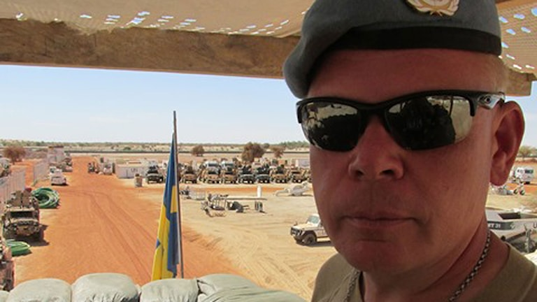 Överstelöjtnant Carl Axel Blomdahl.   Foto: Richard Myrenberg/Sveriges Radio.
