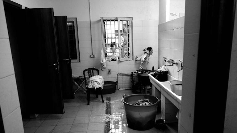 Asylboende i Rom. Foto: Alberto Pizzoli/AFP.