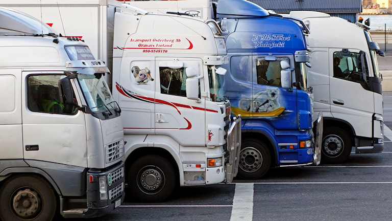 Lastbilar långtradare stölder. Foto: TT