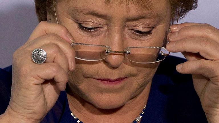 Chiles president Michelle Bachelet. Foto: Rebecca Blackwell/TT.