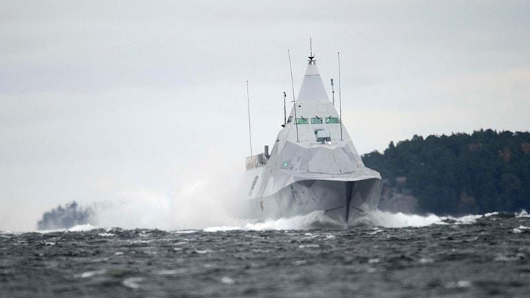 Kustkorvetten HMS Visby. Foto: Fredrik Sandberg/TT.
