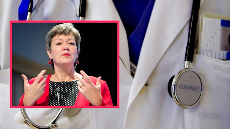 Ylva Johansson (S) läkare. Foto: TT
