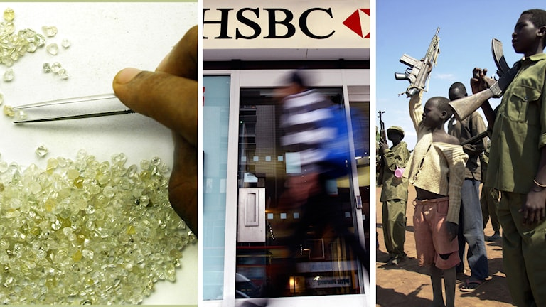 HSBC, barnsoldater, blodsdiamanter
