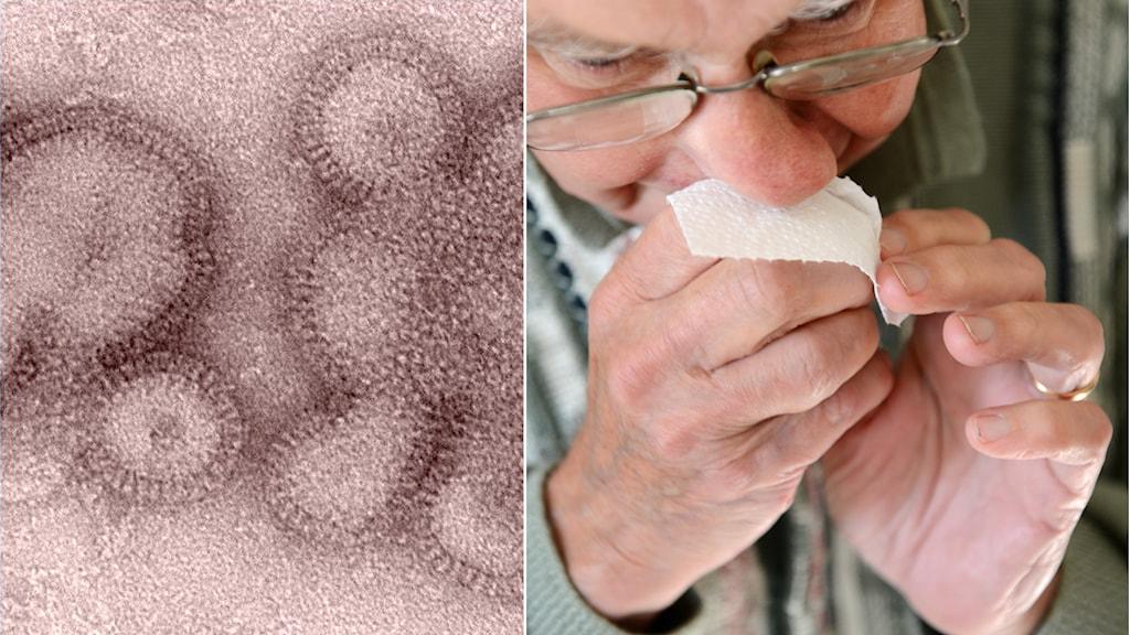 Influensa, äldre man