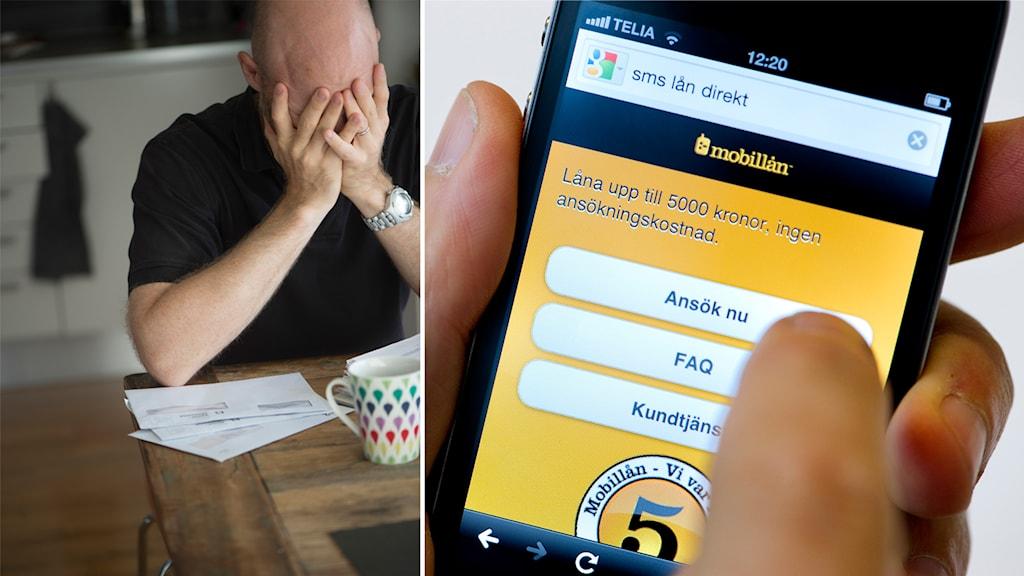 Snabblån, sms-lån, skuld