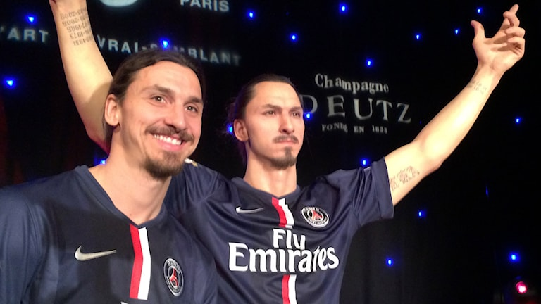 Zlatan and Zlatan. But which is the real one?. Photo: Beatrice Janzon/Sveriges Radio