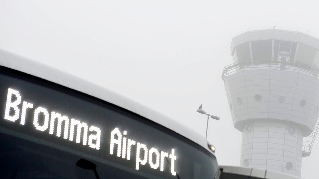 Bromma flygplats. Foto: Pontus Lundahl/TT.