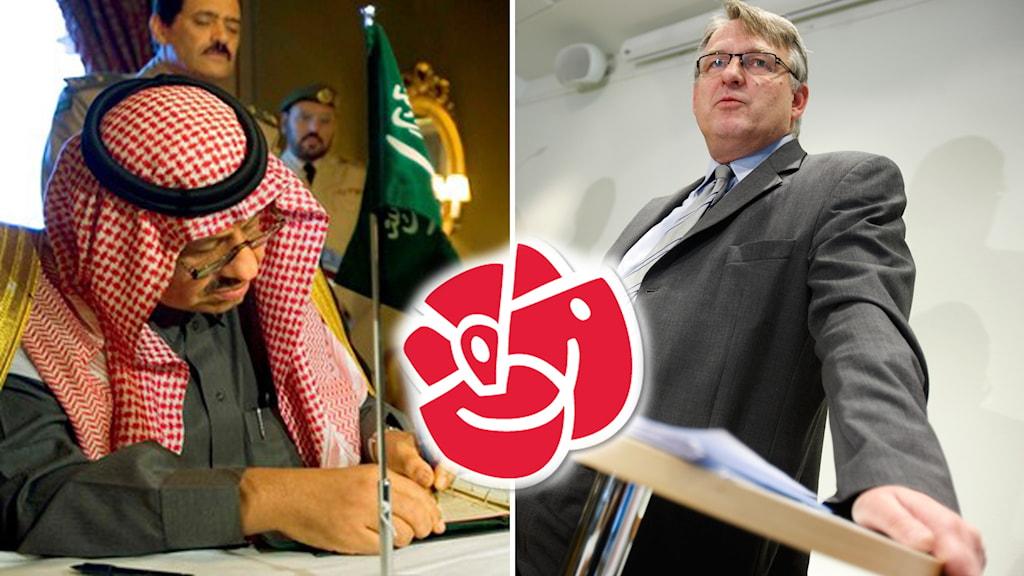 Peter Weiderud (S), ordförande för Socialdemokrater för tro och solidaritet anser att saudiavtalet bör sägas upp. Foto: TT