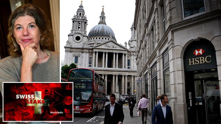 Sigrid Rausing, Tetra pak-arvingen och banken HSBC i London. Foto: TT