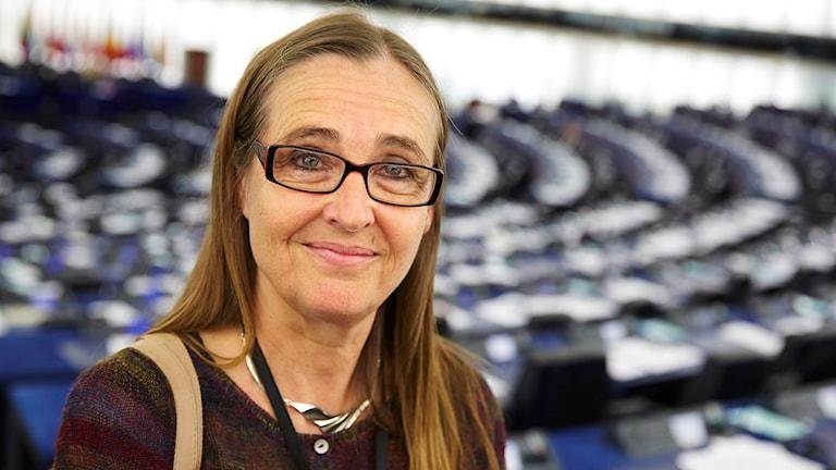 Bodil Ceballos är en av flera ledande miljöpartister som är kritiska till att fortsätta samarbetet med Saudiarabien. Foto: Fredrik Persson/TT.
