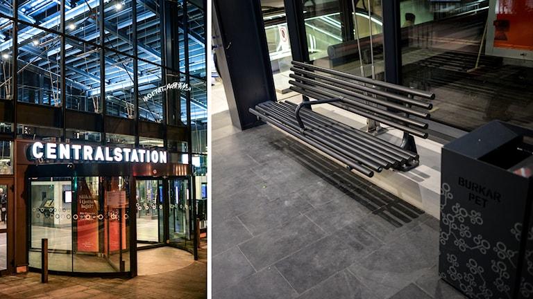 Platsen på Malmö centralstation där den 9-årige pojken omhändertogs av en ordningsvakt. Foto: TT
