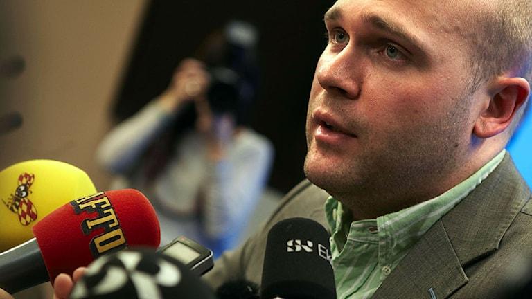 Erik Almqvist har setts som en tänkbar efterträdare till Jimmie Åkesson. Foto: Fredrik Persson/Scanpix.