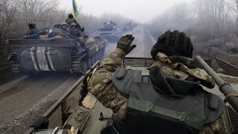 Ukrainska soldater. Foto: Anatolii Stepanov/AFP.