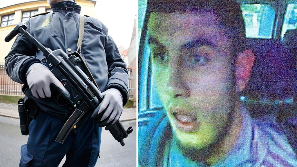 Polis i Danmark kartlägger den misstänkte terroristen för dåden i Köpenhamn. Foto: TT