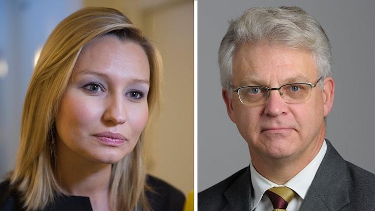 Kristdemokraterna Ebba Busch Thor och Tuve Skånberg. Kollage: SR