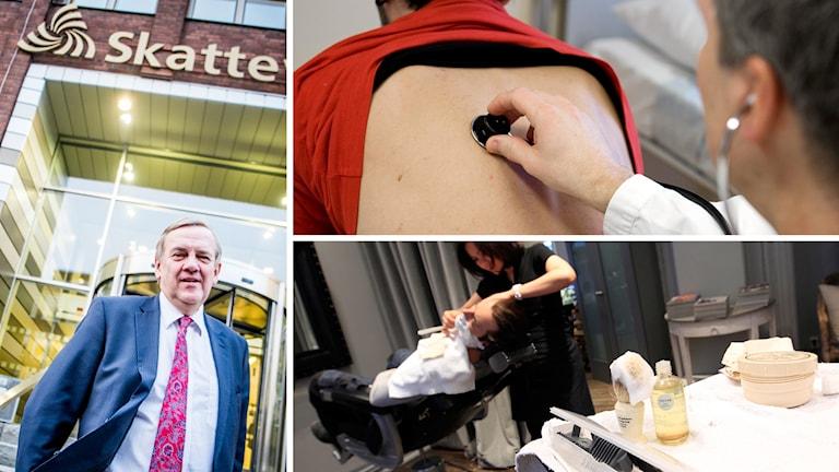 Skatteverkets generaldirektör, Ingemar Hansson, om nya hårdare granskningen av skönhetssalonger och stafettläkare. Foto: TT