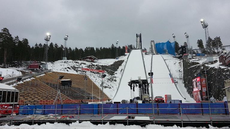 Framtiden får utvisa om Lugnets skidstadion blir välanvänd eller gapar tom. Foto: Anders Jelmin/Sveriges Radio.