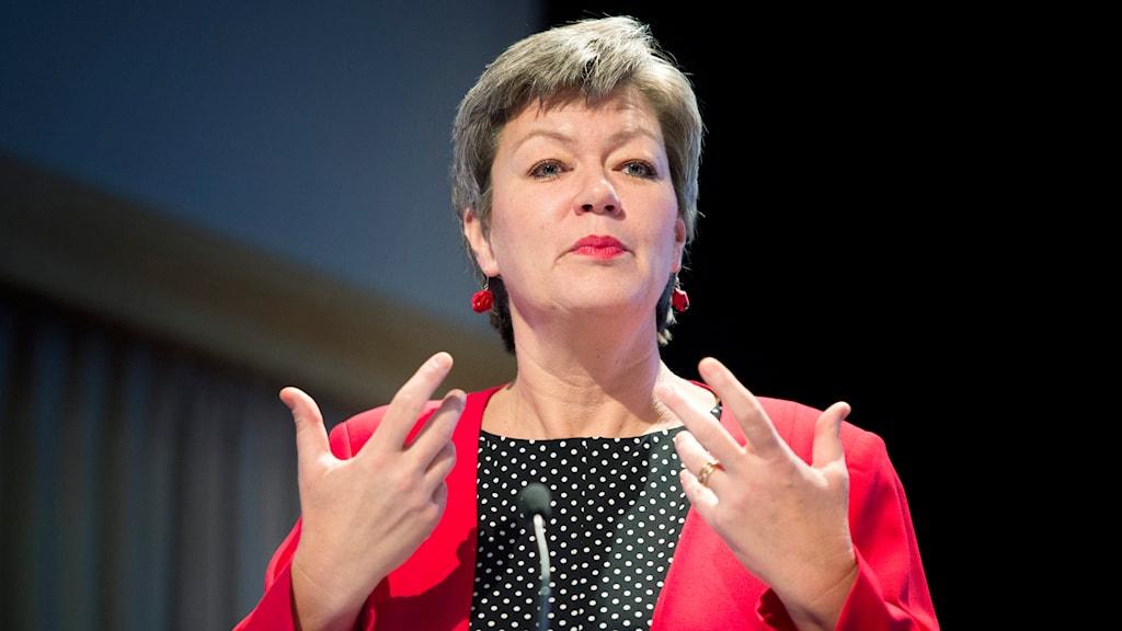 Ylva Johansson (S), arbetsmarknadsminister. Foto: TT