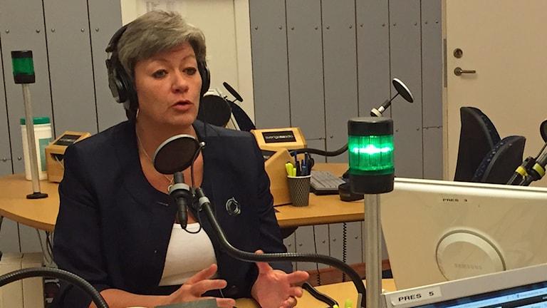 Ylva Johansson (S). Foto: Viktor Mattsson/Sveriges Radio.