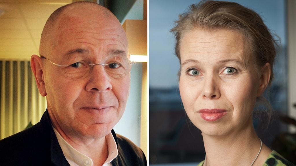 Anne Lagercrantz, Ekochef på Sveriges Radio, och Willy Silberstein, ordförande för Svenska kommitén mot antisemitism. Foto: Pablo Dalence / Sveriges Radio