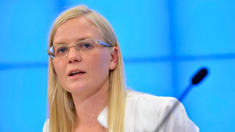 SD:s utrikespolitiska talesperson Julia Kronlid. Foto: Henrik Montgomery/TT.