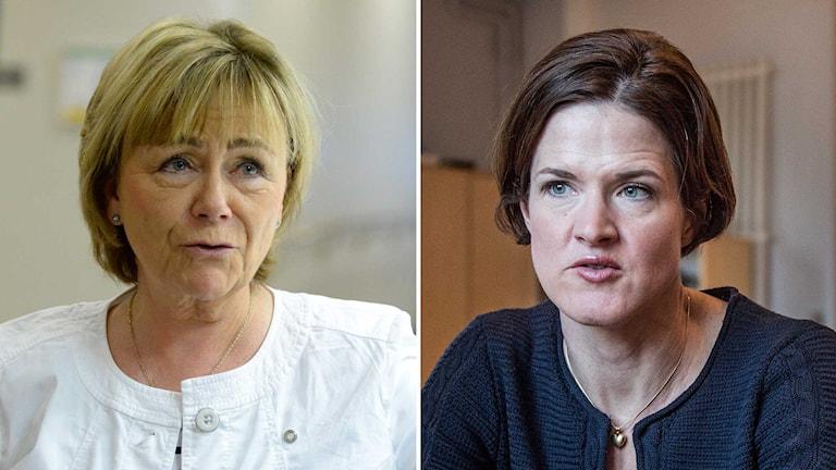 Anna Kinberg Batra, Moderaternas nya partiledare och Beatrice Ask (M). Foto: TT.