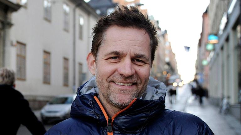 Rickard Olsson är programledare för barnprogrammet Wild kids. Foto: Jessica Gow/TT.