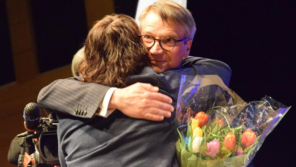 Göran Hägglunds gjorde sitt sista tal som partiledare. Lars Larsson / TT