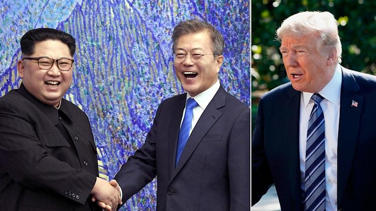 Kim, Moon, Trump