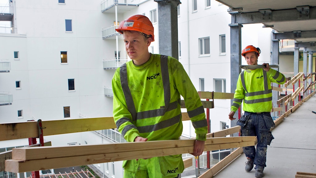 Byggarbetare i Malmö. Foto: Drago Prvulovic/TT.