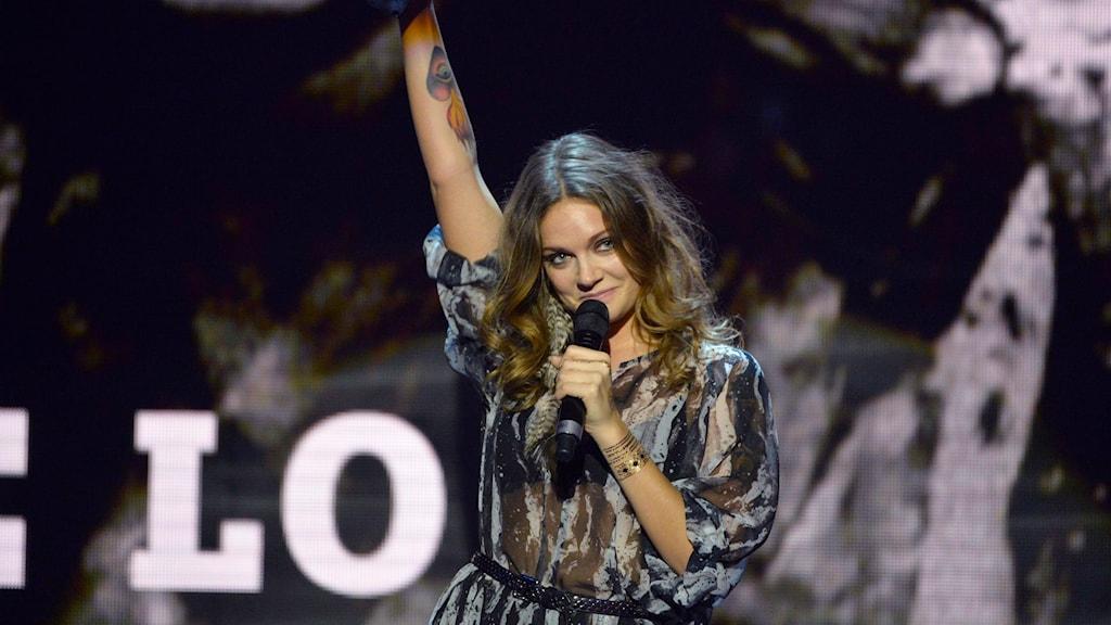 Tove Lo prisades i kategorin Årets artist. Foto: Henrik Montgomery / TT