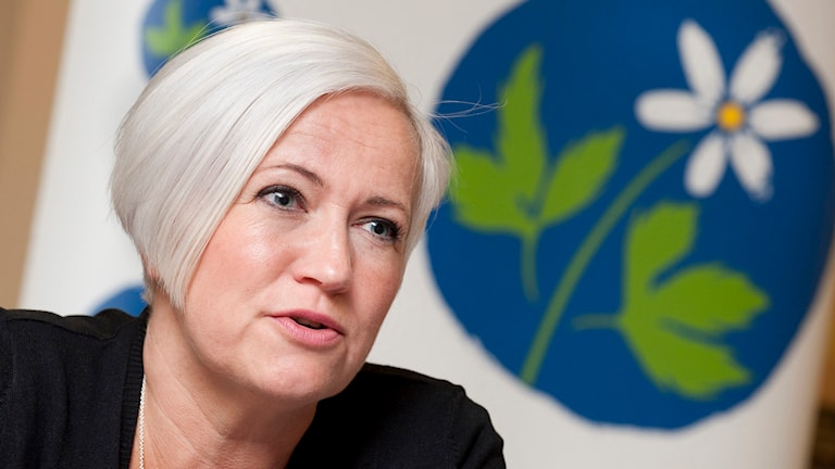 Acko Ankarberg Johansson, partisekreterare i Kristdemokraterna. Foto: Jonas Ekströmer/TT.