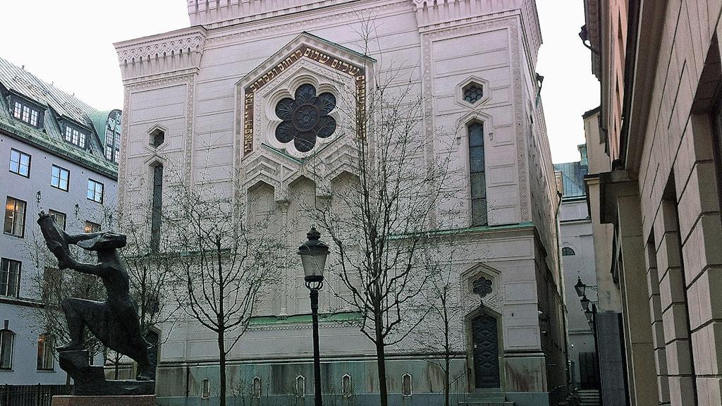 Stockholms stora synagoga. Foto: Magnus Wennerberg/Sveriges Radio.