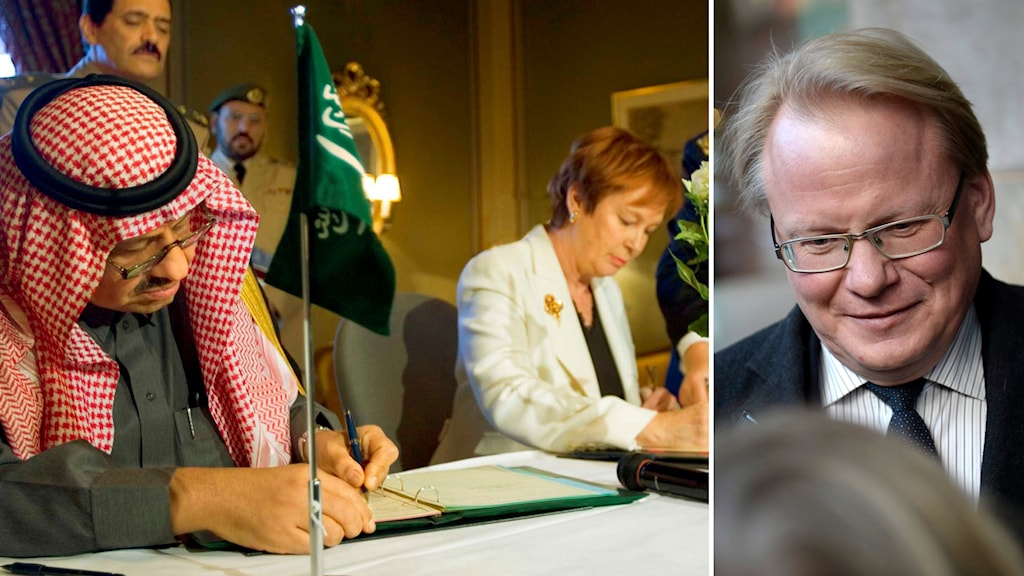 Peter Hultqvist (S) om det kritiserade Saudiavtalet. Foto: TT