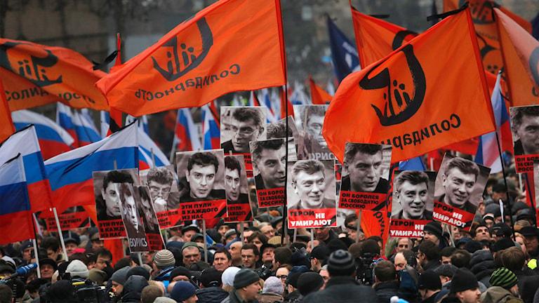 Ryssland, sorgemarch, Boris Nemtsov, Moskva