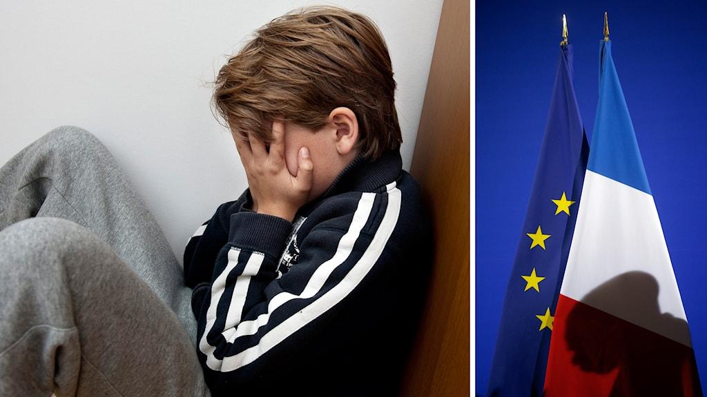 Frankrike får kritik från Europarådet i frågan om barnaga. Foto: TT
