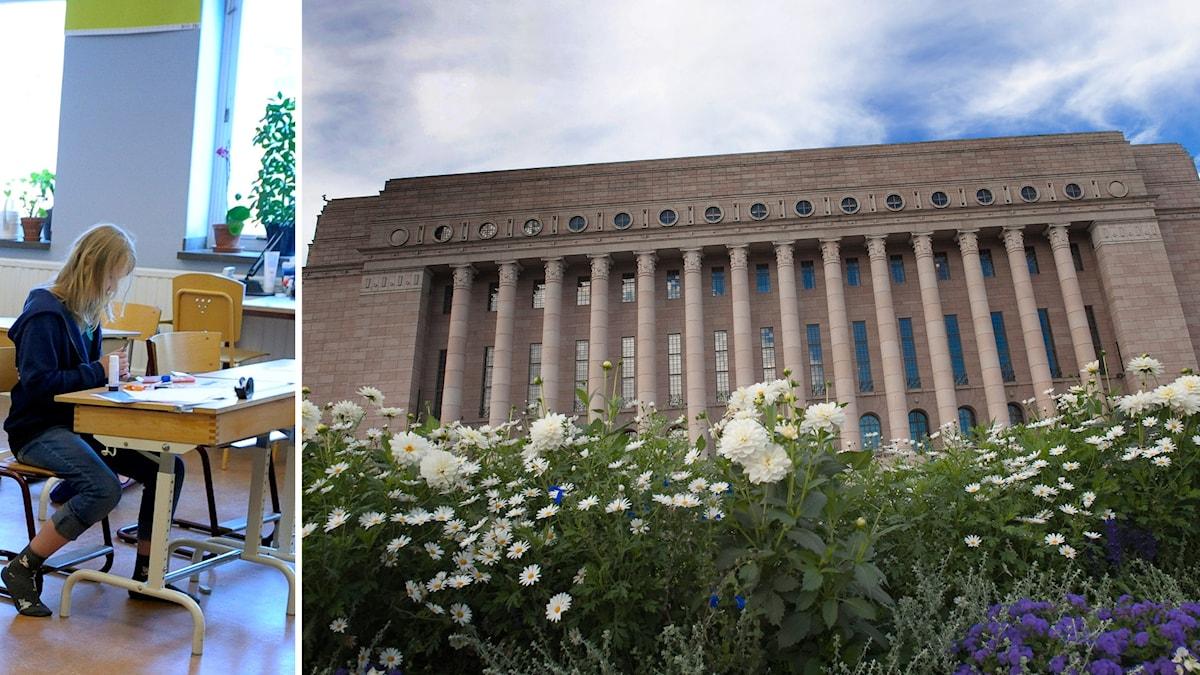 Finlands riksdag har beslutat om svenskaundervisning i skolan. Foto: TT