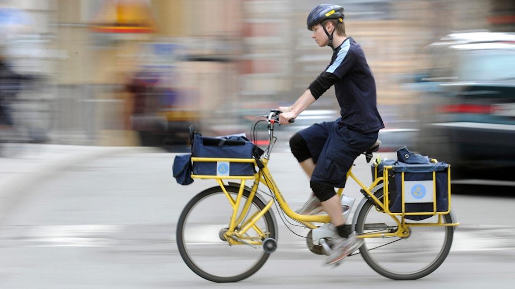 Posten, brev, brevbärare, cykel
