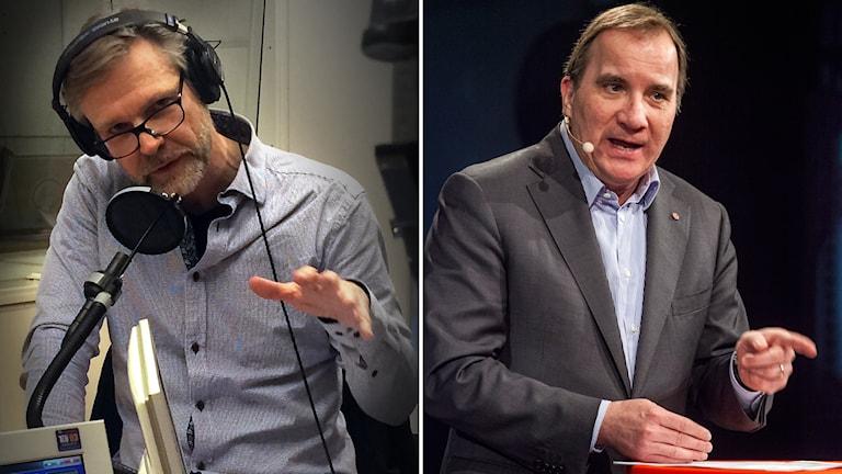 Tomas Ramberg om Stefan Löfven (S) och Saudiavtalet. Foto: Pablo Dalence/Sveriges Radio; TT