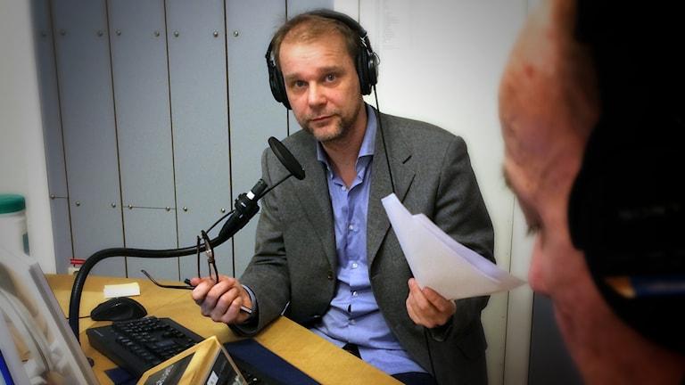Kristian Åström, ekonomikommentator. Foto: Pablo Dalence/Sveriges Radio.
