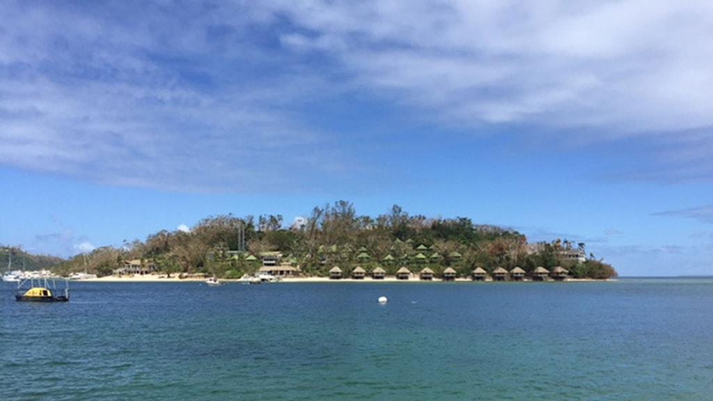 En av Vanuatus stränder. Foto: Margita Boström/Sveriges Radio.