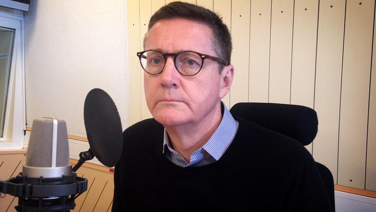Gunnar Karlson, chef för Militära underrättelse- och säkerhetstjänsten Must. Foto: Erik Grönlund / Sveriges Radio