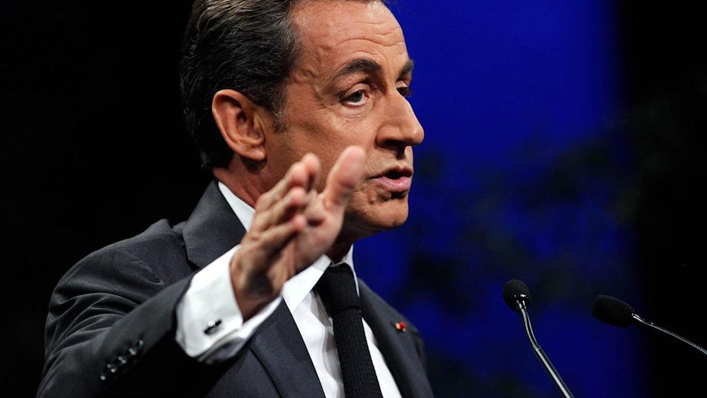 Nicolas Sarkozy, partiledare för UMP. Foto: Thibault Camus/TT.