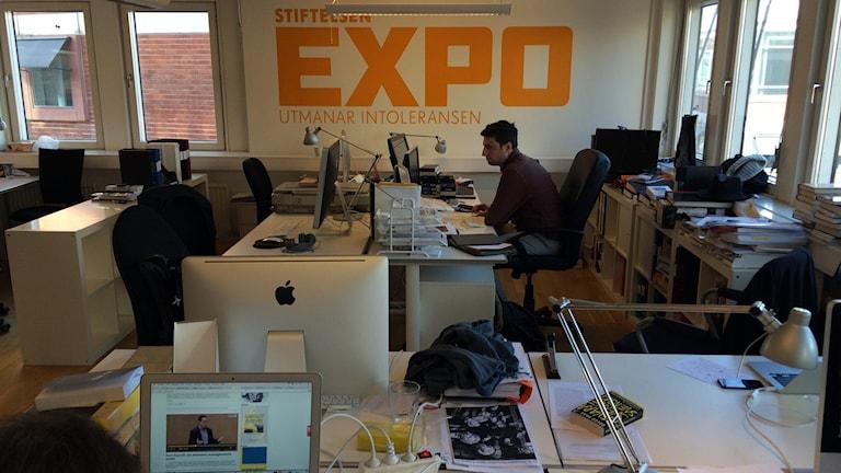 Stiftensen Expos redaktionslokal. Foto: Marcus Eriksson/Sveriges Radio.