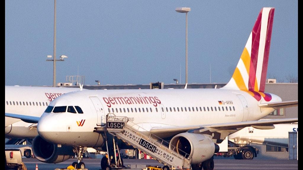 Flygplan märkt Germanwings. Foto: Daniel Naupold/TT.