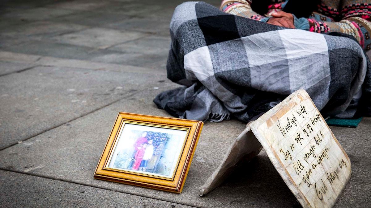 Bilden är tagen i Oslo och personen har inte någon koppling till händelserna i Perstorp. Foto: Erlend Aas/TT.