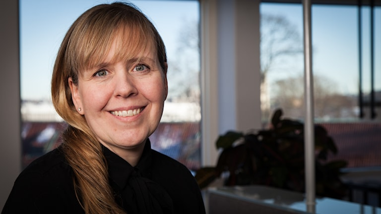 Anna Liderot, Sveriges Radio Ekot, november 2014. Foto: Pablo Dalence/Sveriges Radio.