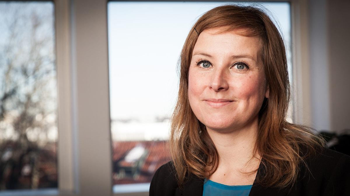 Kajsa Norell, Sveriges Radio Ekot, november 2014. Foto: Pablo Dalence/Sveriges Radio.