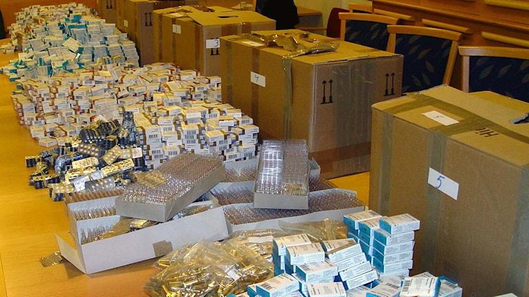 Mannen har vid två tillfällen smugglat in stora mängder dopningsmedel från Polen.